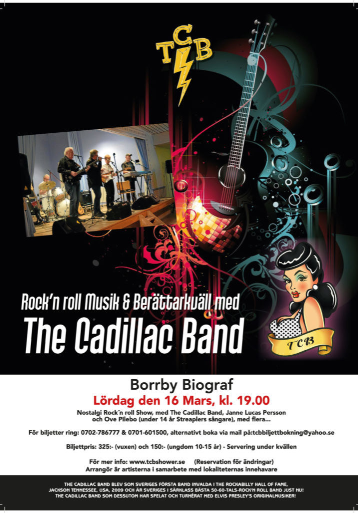 The Cadillac Band Borrby Bio affisch