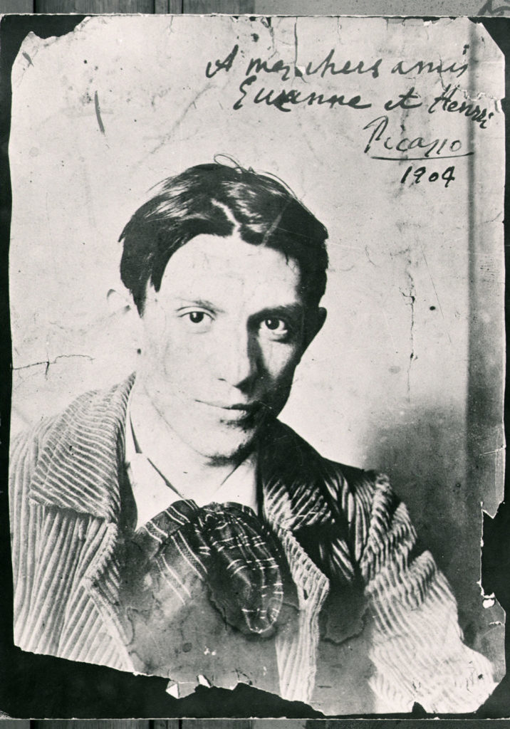CHT163535 Pablo Picasso (1881-1973), 1904 (b/w photo) by French Photographer, (20th century); Musee de Montmartre, Paris, France; Archives Charmet; French, it is possible that some works by this artist may be protected by third party rights in some territories